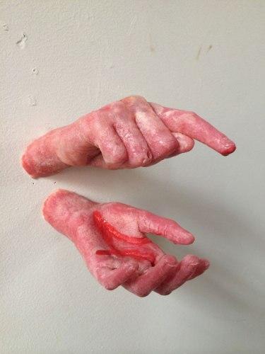 """Matt Freedman - """"Untitled,"""" 2014, Plastic and tempera paint, 12 x 18 x 8 inches."""