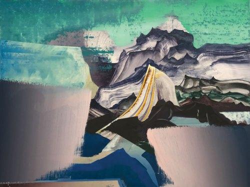 "Elliott Green - ""Aerolith,"" 2016, Oil on linen, 18 x 24 inches"