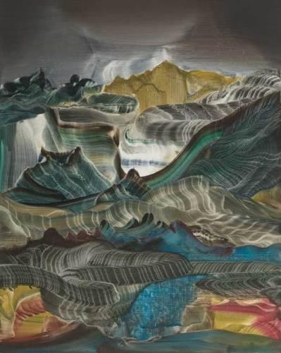 "Elliott Green - ""Dirty Gravity,"" 2019, Oil on linen, 20 x 16 inches"