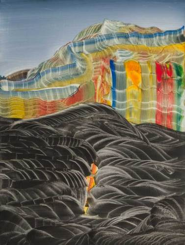 "Elliott Green - ""Engulfed,"" 2019, Oil on linen, 16 x 12 inches"