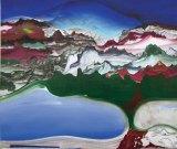 "Elliott Green - Detail: ""Fire Drip,"" 2016, Oil on linen, 76 x 54 inches"