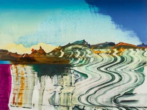 "Elliott Green - ""Seismic Trill,"" 2019, Oil on linen, 32 x 40 inches"