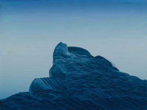 """Elliott Green - """"The Establishing Shot,"""" 2018, Oil on linen, 12 x 16 inches. Sold"""