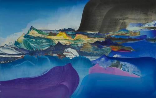 "Elliott Green - ""Amygdala,"" 2019, Oil on linen, 48 x 76 inches"