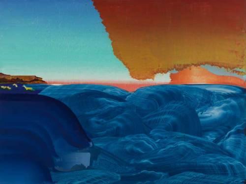 "Elliott Green - ""Zeus and Buddha,"" 2019, Oil on linen, 30 x 40 inches"