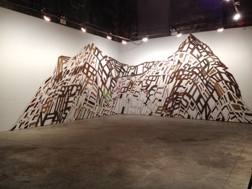 "no title - Linda Herritt, ""Terra Infirma,"" Installation View at The Boiler, November 2014"
