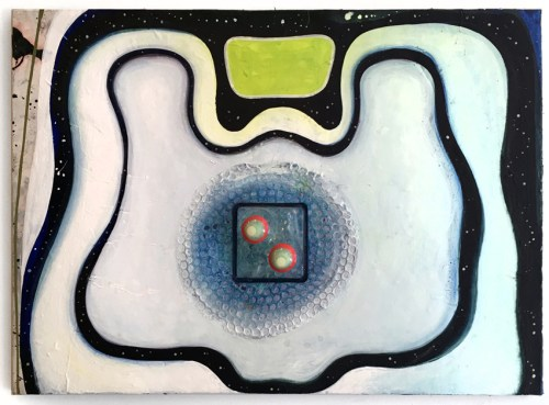 """Sharon Horvath - """"Light the Light,"""" 2019, Pigment, polymer on Wasily paper, 22.375 x 30.5 inches"""