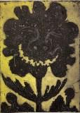 "Patrick Jacobs - ""Black Flower (Night Spirits II),"" 2020, Unique Viscosity Print, 24 x 18 inches"