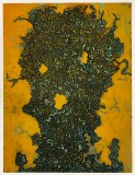 "Patrick Jacobs - ""Worm Head (Night Spirits II),"" 2020, Unique Viscosity Print, 24 x 18 inches"