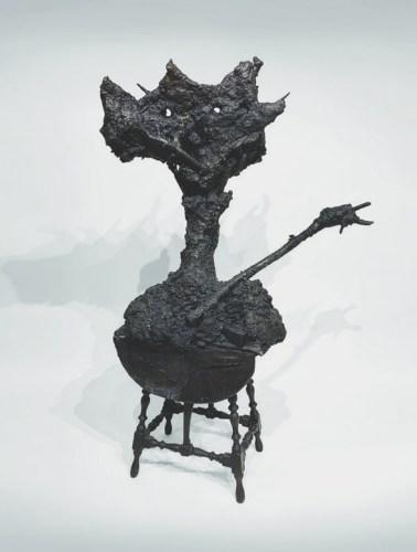 "Patrick Jacobs - ""Four-Legged Tulip Man (The Nocturnes),"" 2019, Bronze, 65.6 (H) x 41.5 (W) x 37 (D) inches"
