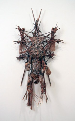 Kim Jones - Untitled, 2012, Mixed Media, Approximately  42 x 19 x 8.5 inches