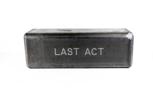 """Stephen Kaltenbach - """"LAST ACT,"""" Time Capsule, Steel and unknown contents"""