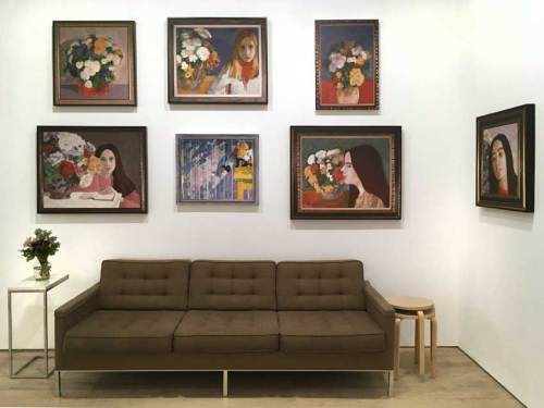 """Stephen Kaltenbach - Es Que?, """"Lord and Taylor Paintings"""" Installation view at Pierogi, 2019"""
