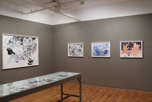 """Darina Karpov, """"Ignis Fatuus"""" - Installation View"""