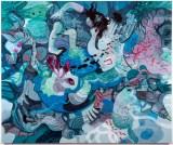 "Darina Karpov - ""As It Flies Away,"" 2019, Acrylic on canvas, 60 x 72 inches"