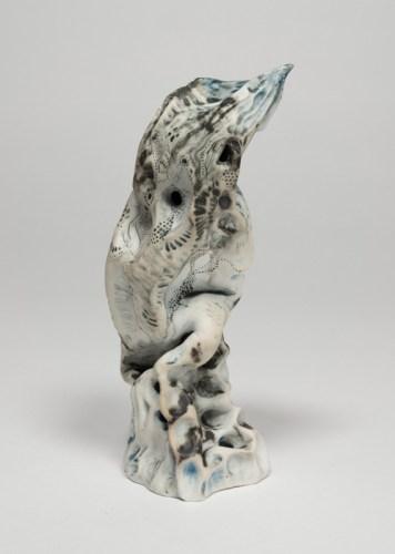 "Darina Karpov - ""Bird,"" 2019, Glaze and underglaze on porcelain"