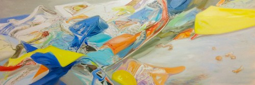 Crawl Space - 2012, Oil on linen, 20 x 58 inches