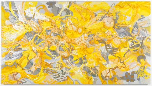 "Darina Karpov - ""Gravity Lies,"" 2019, Acrylic on canvas,  40 x 72 inches"