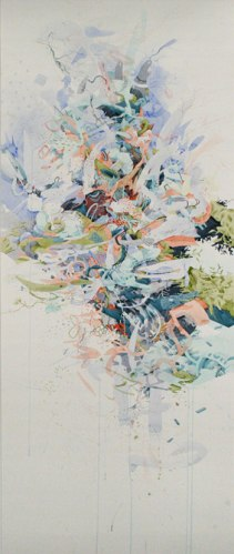 Quintessence and Sunbeams - 2009, Watercolor and Gouache on Paper, 50.5 x 21 inches