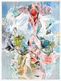 """Darina Karpov - """"Seized 3,"""" 2019, Watercolor and graphite on paper, 24 x 18 inches"""