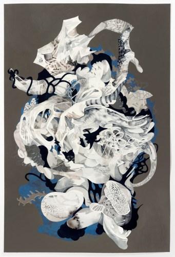 "Darina Karpov - ""Untitled,"" 2019, Watercolor and acrylic on paper"