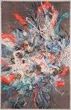 "Darina Karpov - ""Landslide,"" 2013, Watercolor, gouache on paper, 40 x 29 inches"