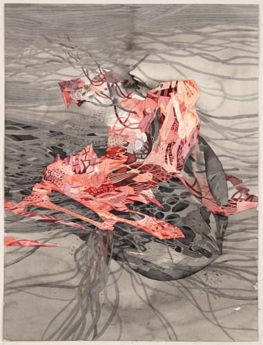 """Darina Karpov - """"Resurge,"""" 2013, Watercolor on paper, 12 x 9 inches"""