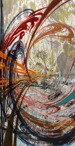 Expansion - 2008, Acrylic on Sintra (PVC) Panel, 144 x 72 inches