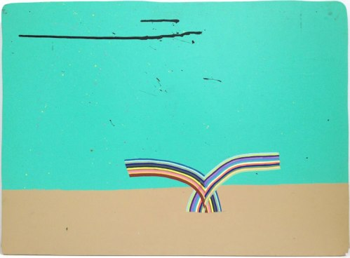 "Alicia McCarthy - ""Untitled,"" 2005, Latex paint and gouache on found wood, 22.5  x 31 inches. Courtesy Jack Hanley gallery."