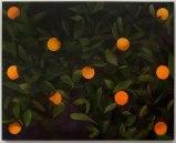 "Ryan Mrozowski - ""Orange Painting 1,"" 2013, oil on linen, 40 x 50 inches"