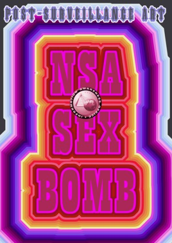 """Suzanne Treister (P•P•O•W) - NSA Sex Bomb from"""" Post-Surveillance Art,"""" From a series of 20 Archival giclée prints on Hahnemuhle Bamboo paper, 16.5 x 11.75 inches, Edition 2 of 25"""