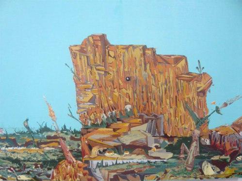 Hobo Mountain - 2009, Oil on Linen, 16 x 23.5 inches