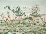 "Johan Nobell - ""Mount Fear,"" 2008, Oil on linen, 19 x 25 inches"