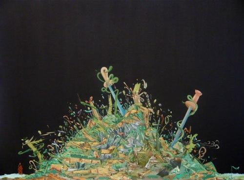 Saber Soufflé - 2009, Oil on Linen, 31.5 x 43.5 inches