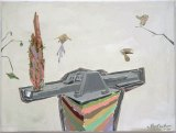 """Johan Nobell - """"Steeleater Study,"""" 2009, Oil on linen, 11 x 14.75 inches"""