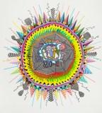 """John O'Connor - """"American Sun,"""" 2016, Colored pencil and graphite on paper, 79 x 71 inches"""