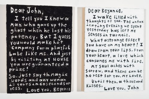 Love Letters (Diptych) - 2013, Acrylic on panel, 9 x 12 (each panel)