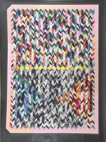 """John O'Connor - """"The Middle,"""" 2008, Graphite and Colored Pencil on Paper, 80.25 x 60 inches"""