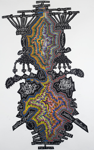 """John O'Connor - """"Turing,"""" 2010, Colored pencil and graphite on paper, 78"""" x 50"""""""