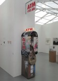 ATM - 2015, Canopy, power, phone line, receipts. Multiple of 3. #2/3, Approx. 81 x 18 x 24 inches. Installed at UNTITLED, Miami 2015