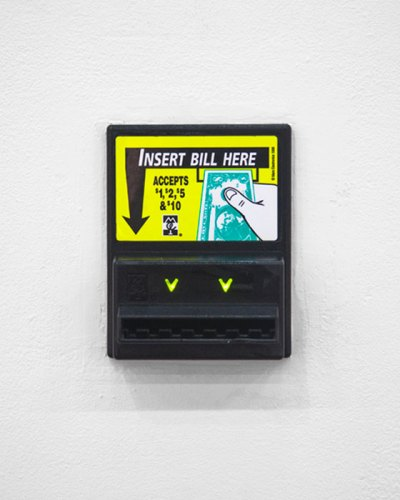"Andrew Ohanesian - ""Dollar Bill Acceptor,"" 2015, MEI Series bill acceptor validator, 4 x 5 x 2 inches"