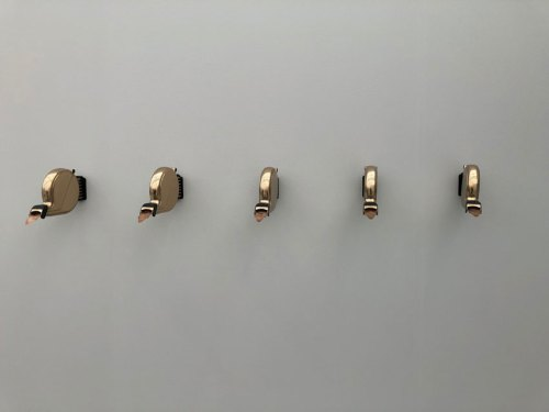 """Untitled, Miami Beach - Installation view, 2017. Andrew Ohanesian, """"Take-A-Number"""""""