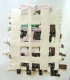 Elana Herzog - Untitled, 2010?, Handmade cotton paper, textile, 16.5 x 15.25 inches?. (Additional work available to view at Pierogi)