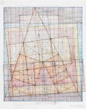 "Mark Reynolds - ""Minor Third Series: Dance of the Root Two, 2.1.15,"" 2015, Graphite, colored inks, colored pencil, and pastel on cotton paper, 12 x 10 inches"