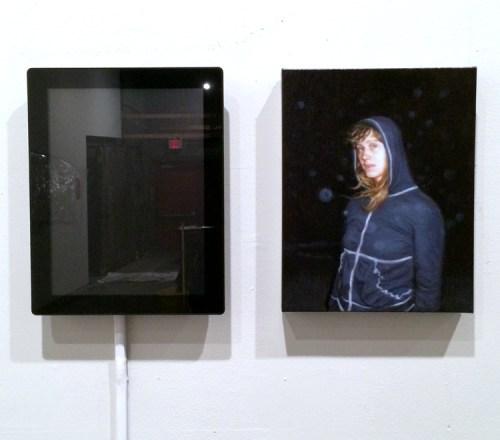 "Peter Rostovsky - ""Portrait,"" 2015, Painting, digital video"