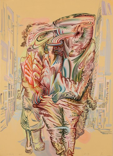"James Esber - ""Untitled (Run),"" 2013, Acrylic on paper, 27 x 19.5 inches"