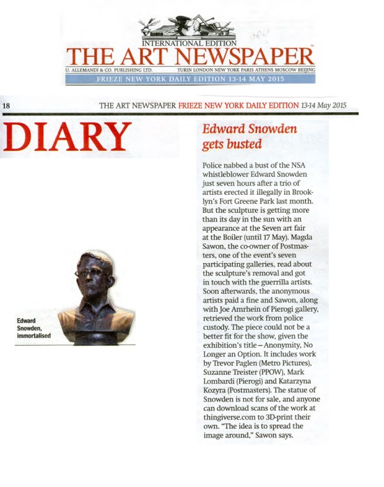 The Art Newspaper May 13-14,2015 - no description