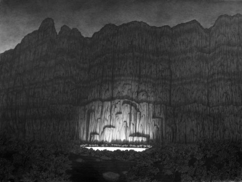 Pool of Light - 2009, graphite on paper, 22 x 30 inches