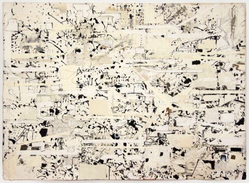 David Scher - Untitled, Mixed media on paper, 34 x 46.25 inches