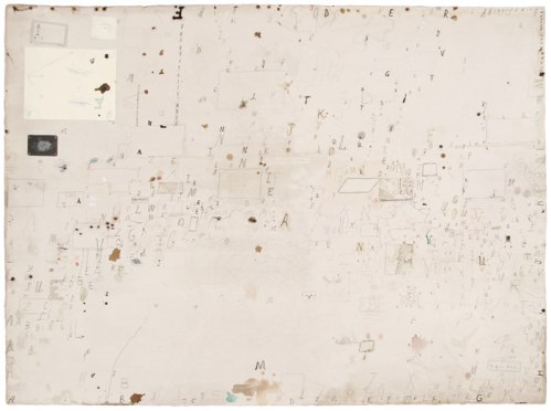 David Scher - Bagnolo Series W10, 2011, Ink, pencil, collage on paper, 22.25 x 30 inches.
